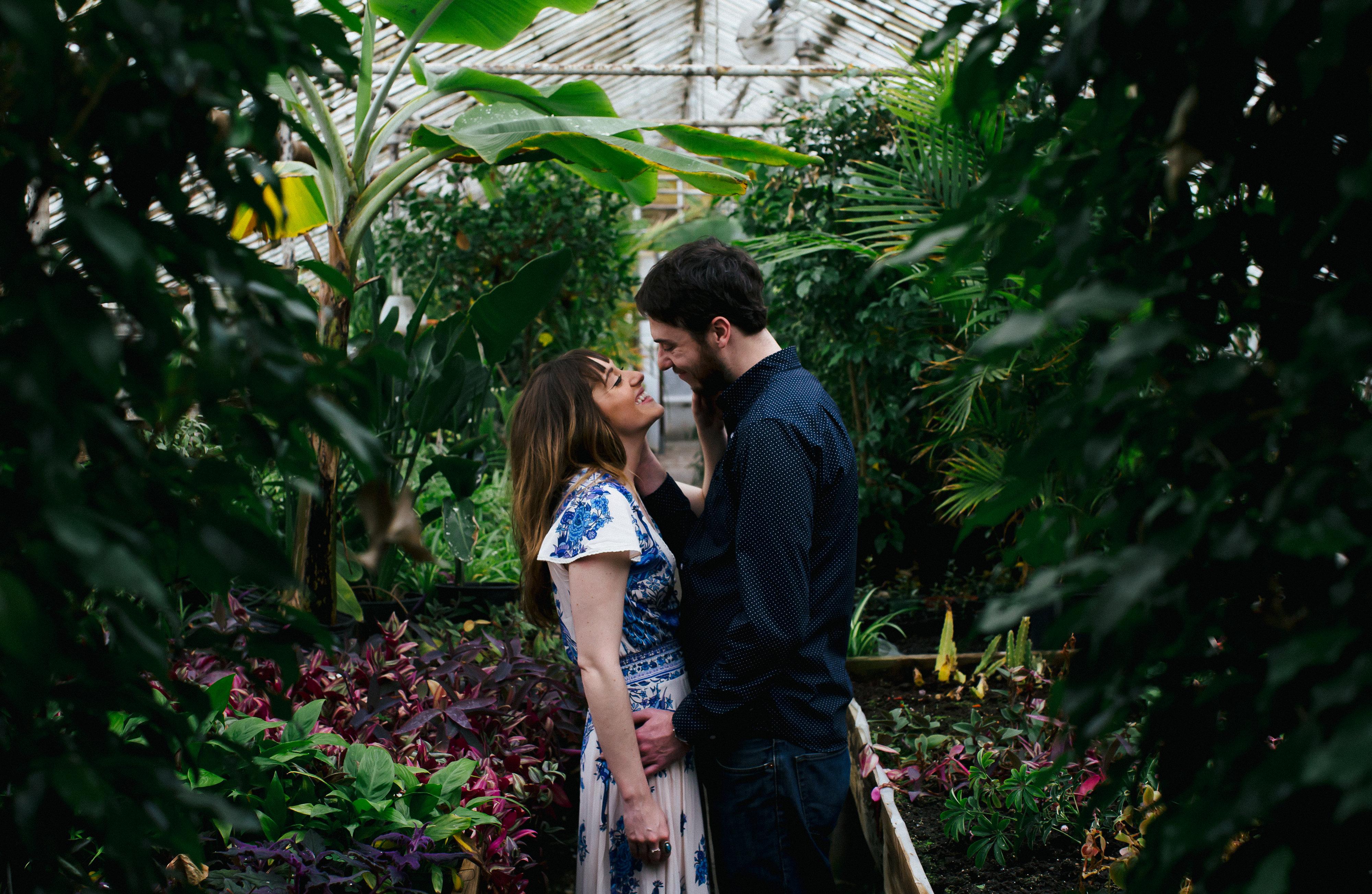 Kansas City Greenhouse Engagement Session | Lynn & Tim