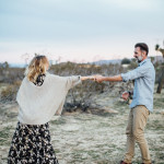Joshua Tree Sunset Couples Portraits | John & Kate by Britt Crowe