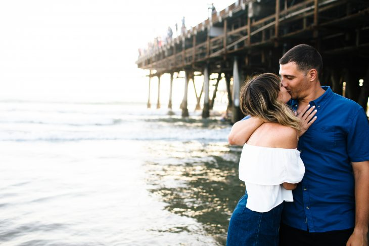 Santa Monica Pier Anniversary Portraits | Sam & Kathryn