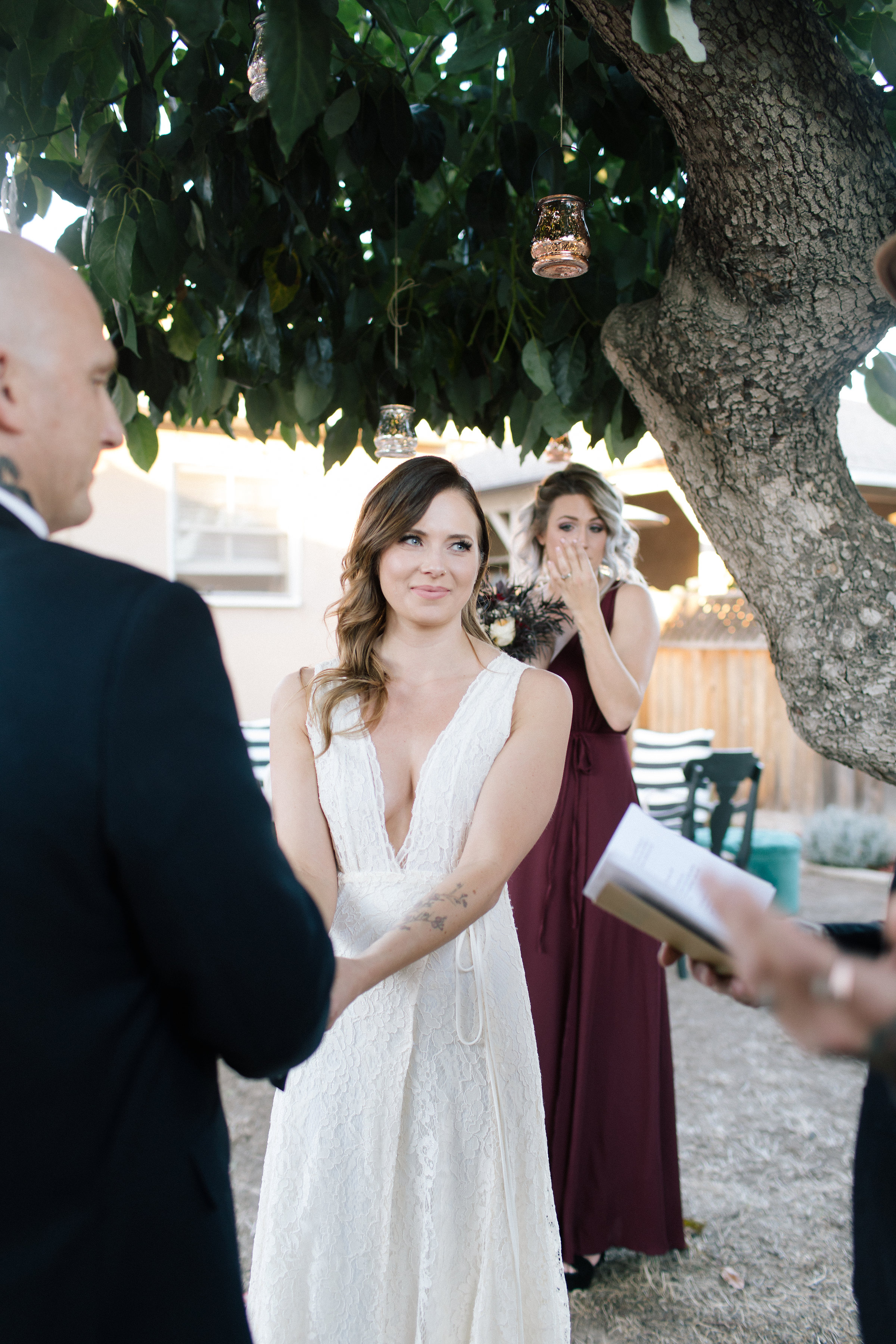 county california intimate backyard wedding