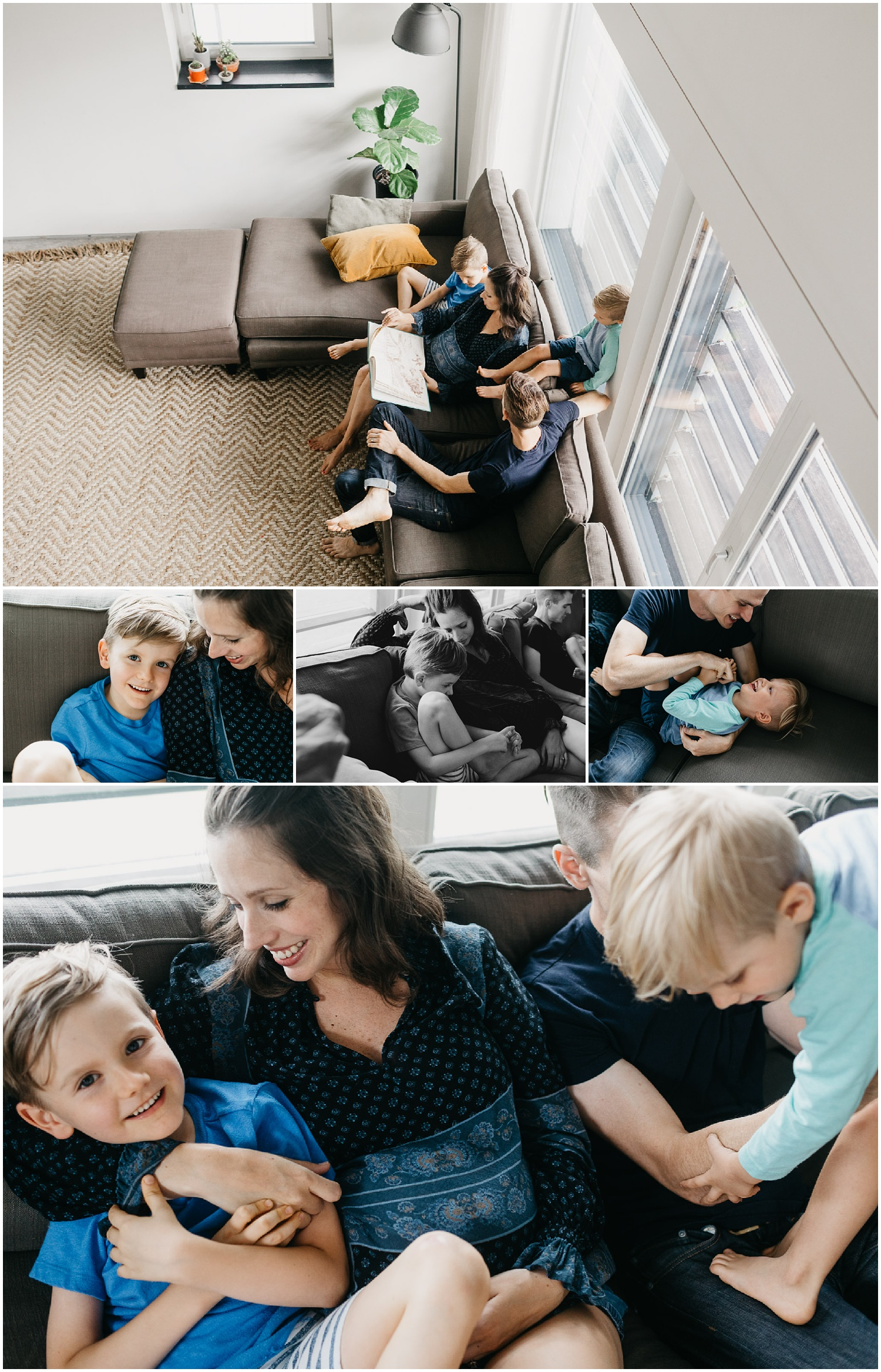 Kansas City Family In Home Portrait Session