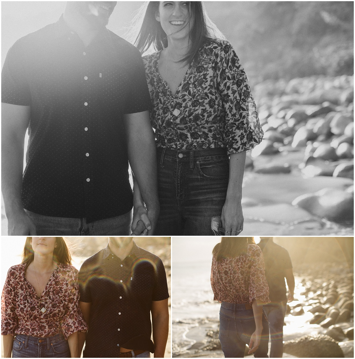 Danielle Billy Santa Barbara Butterfly Beach Engagement Session