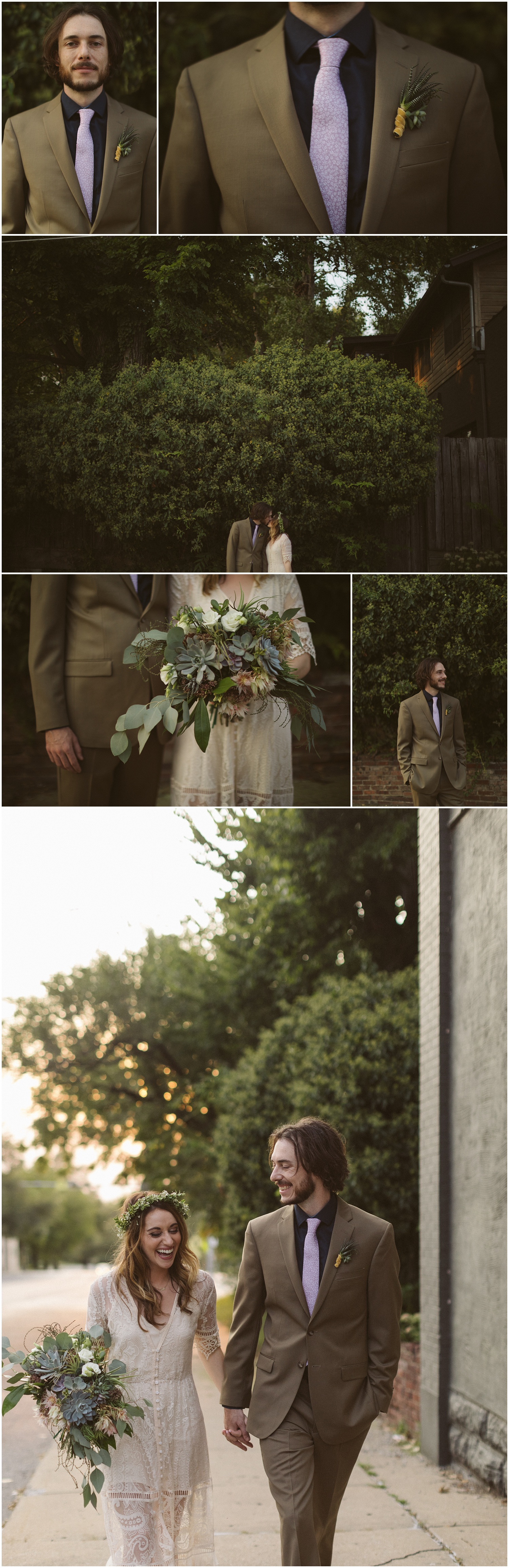 Lynn + Tim Kansas City Scout Statue Intimate Wedding