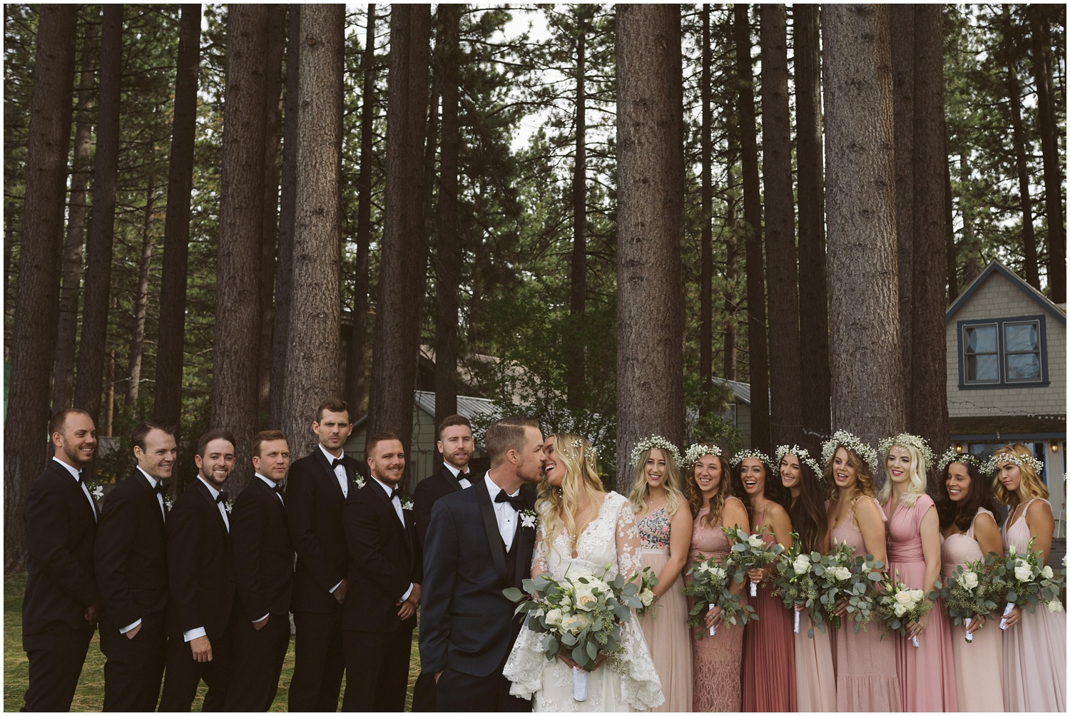 Lindsay and Bret South Lake Tahoe Bohemian Wedding Pink Bridesmaid Dresses
