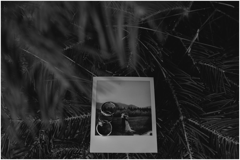 Lindsay and Bret South Lake Tahoe Bohemian Wedding Portraits Polaroid