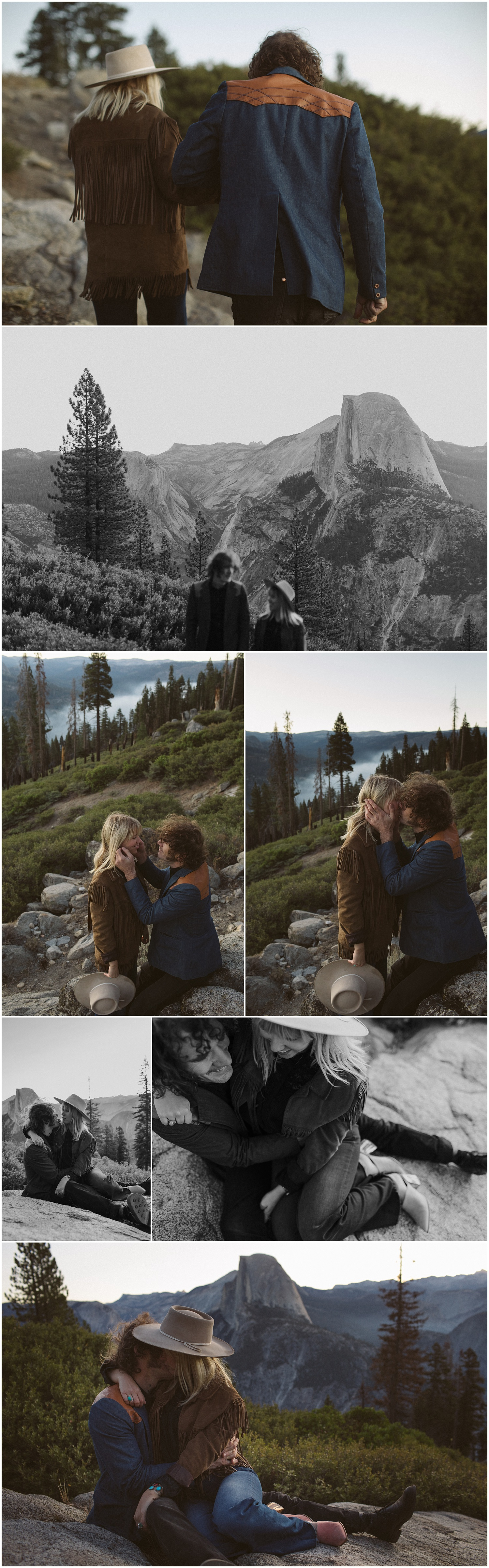 Yosemite Glacier Point Engagement Session Charlotte and James Yosemite Wedding Photographer