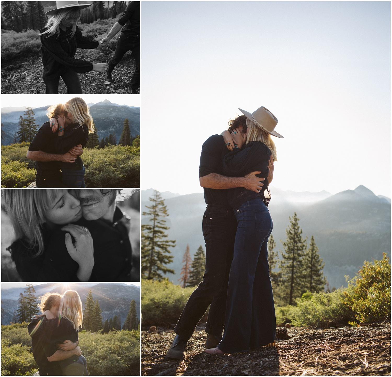 Yosemite Glacier Point Engagement Session Charlotte and James Yosemite Wedding Photographer