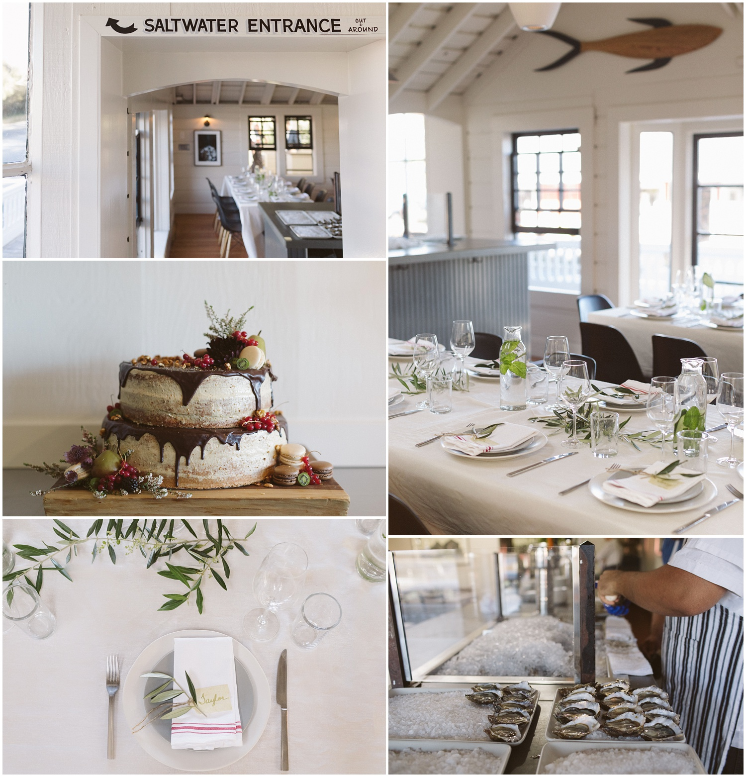 Saltwater Oyster House Wedding Reception